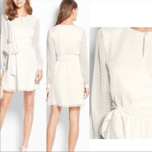 Ann Taylor White long sleeve wrap dress